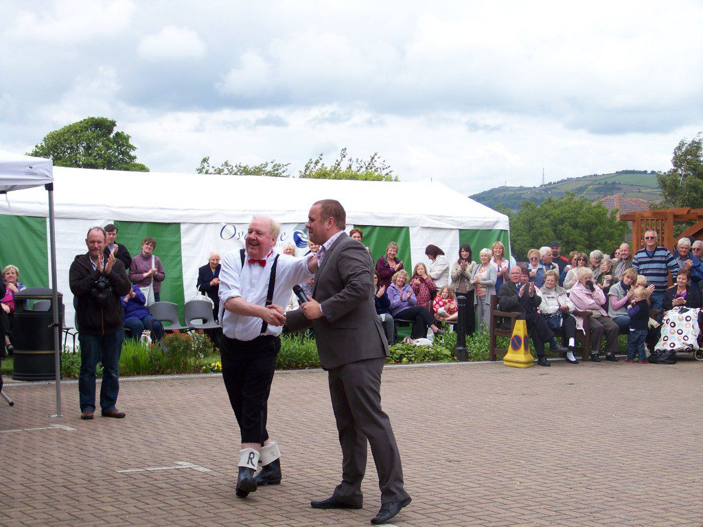 Jimmy Cricket at the Overgate Hospice's annual summer garden party. Picture courtesy of Neil Hurst