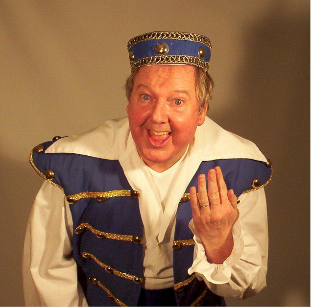 Jimmy Cricket in panto costume
