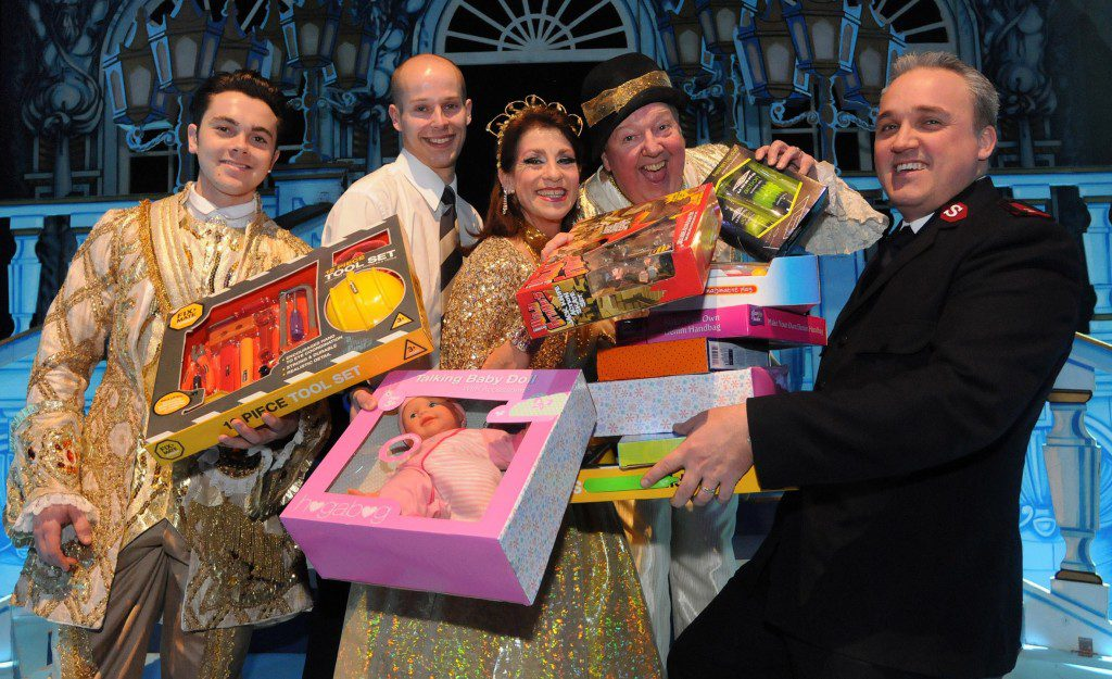 A special photo call was staged to mark the toy giveaway. Photo by Ian McClelland