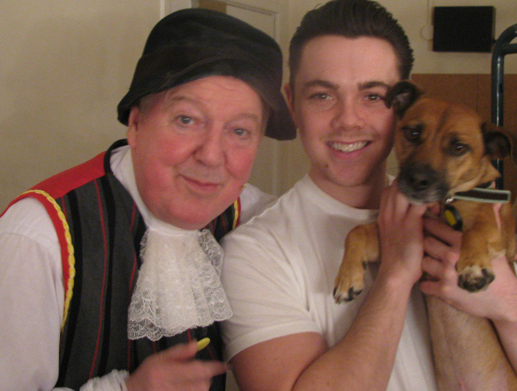 Jimmy Cricket and Ray Quinn - and dog
