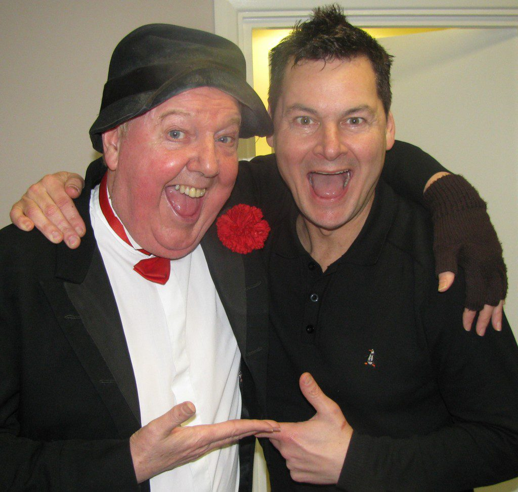Jimmy Cricket and Phil Walker at the Comedy for Heroes show
