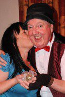 Jimmy Cricket and friends at the Joker's Workingmen's Club in Selston