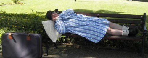 Jimmy Cricket sleeping on park bench to raise awareness about the homeless