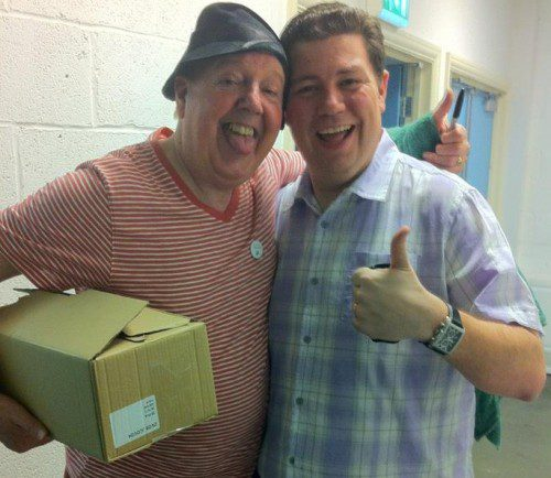 Jimmy Cricket and Karl of the Vintage Corporation Band