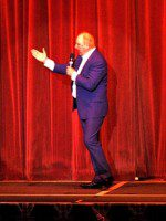 Jimmy Cricket on stage