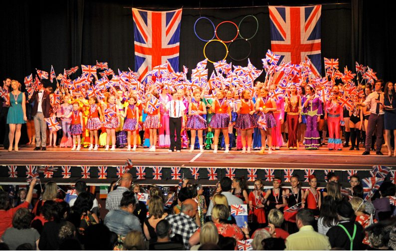 The grand finale featured all the show's participants who were representing all the many dance schools