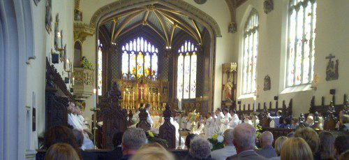 The service was held at the St Mary's College chapel