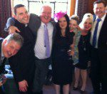 Frankie celebrates with his family in a photo taken by Tim Vine