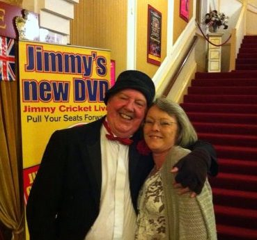 Old friends Jimmy Cricket and Jacqui Ridler meet up again