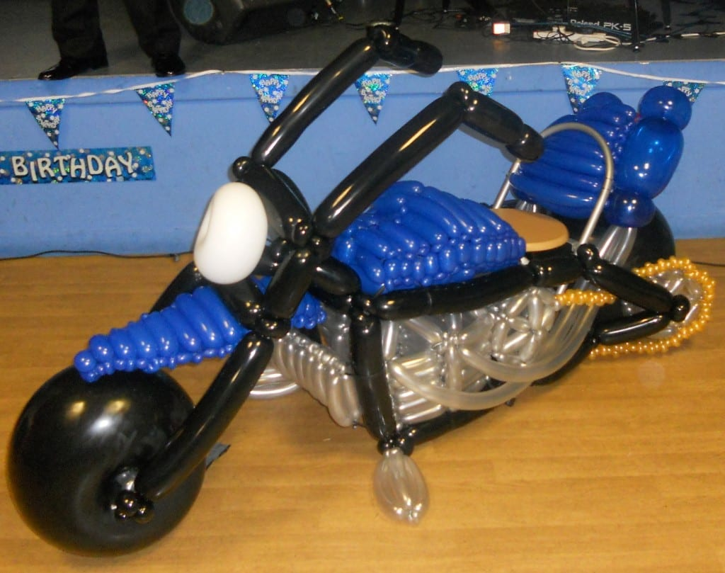 Bike made out of balloons