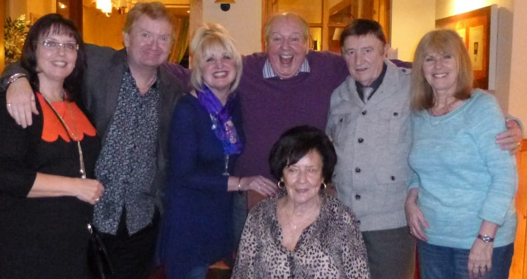 Jimmy Cricket with Linda, Phil, May, Gloria, Eric and Linda