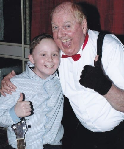 Jimmy Cricket with Kyle from Liverpool