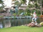 Jimmy Cricket outside the nearby Hilton Hotel in Waikiki in Honolulu