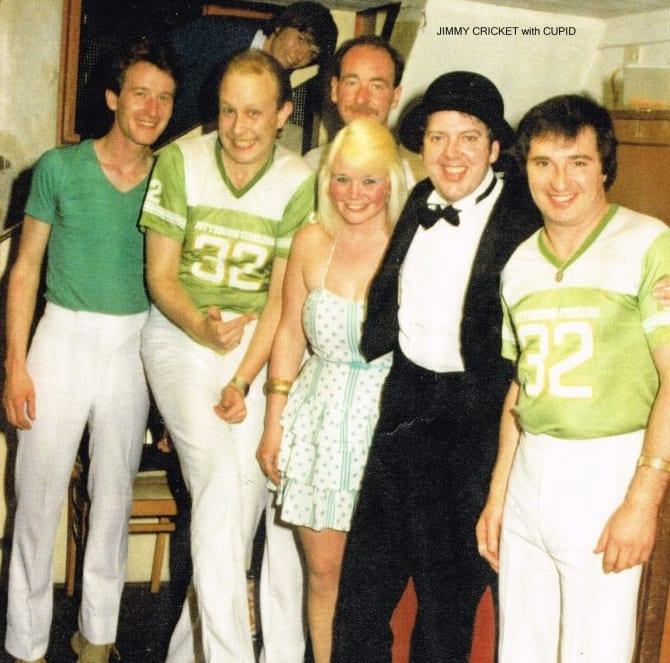 Jimmy Cricket and the band at Pontins on the Isle of Wight
