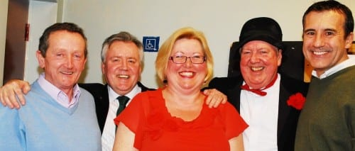 Jimmy Cricket with the committee who organised the event