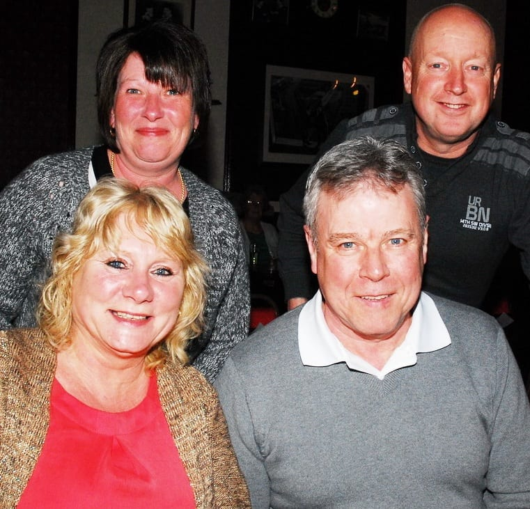 Sue and Gerry Sarson with Julie and Mark Brough