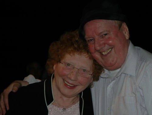 Jimmy Cricket with one of the event's supporters