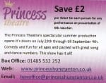 Irish entertainer Jimmy is appearing from 5 August to 4 September at the Princess Theatre in Hunstanton