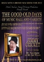 Jimmy Cricket is appearing with the National Music Hall Tour - poster
