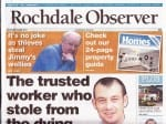 The story of the theft of the wellies, which were given by Ken Dodd to Jimmy Cricket, featured on the front page of the Rochdale Observer