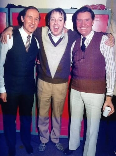 Jimmy Cricket with the Patton brothers