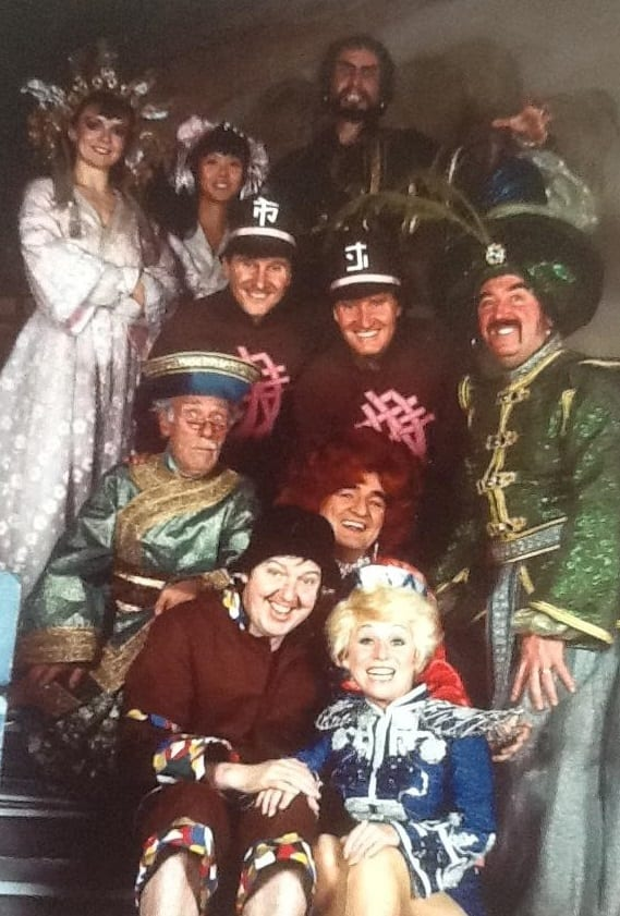 The entire cast from Aladdin which also featured Barbara Windsor as Aladdin and Billy Dainty as Widow Twankey