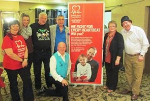 Jimmy Cricket with fellow artists and some staff and volunteers from the British Heart Foundation Northern Ireland