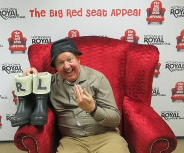 Jimmy Cricket makes an appeal on behalf of the Royal Concert Hall in Nottingham