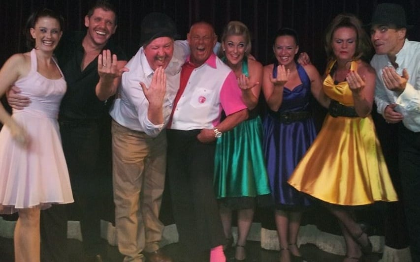 Jimmy Cricket with the Showtime Tenerife team