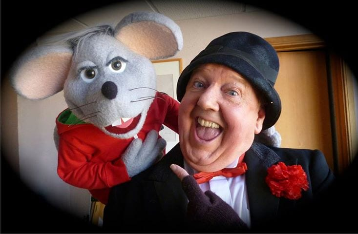 Jimmy Cricket with Theo The Mouse at St David's Hall in Cardiff