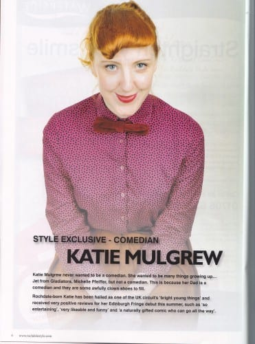 Katie Mulgrew features in the Christmas edition of Rochdale magazine Style