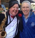 Jimmy Cricket with Martin Logan