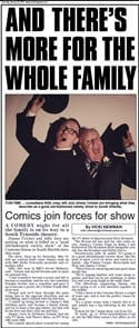 The South Shields Gazette article on the Jimmy and Alfie Show