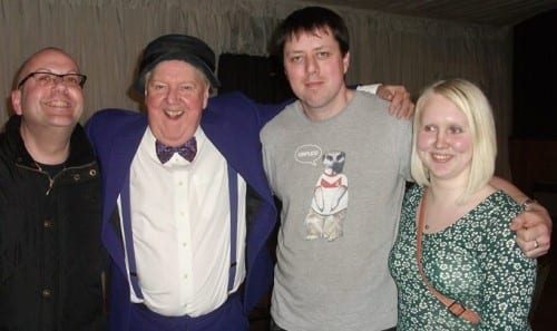 Jimmy Cricket in Ormskirk with Edwin Fisher, Amy Phillips and John Crawley
