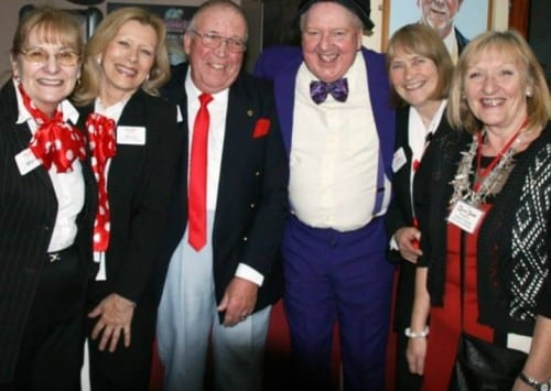 Jimmy Cricket with the volunteers of the West Cliff Theatre's Friends group