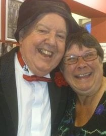 Jimmy Cricket with fan Susan Barnes at the Jimmy & Alfie Show