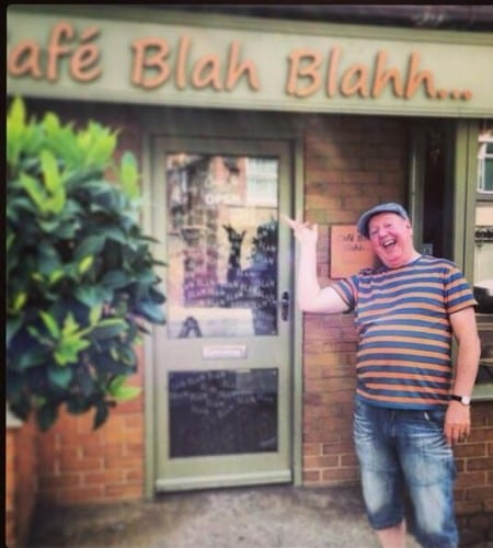 Owners of Café Blah Blahh posted a photo publicising Jimmy Cricket's return to Hunstanton