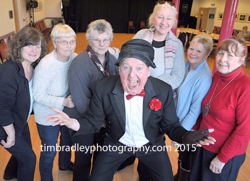 Jimmy Cricket with the Craft and Natter group at Oswaldtwistle Arts Centre