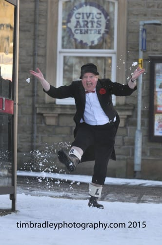 Jimmy Cricket in the snow
