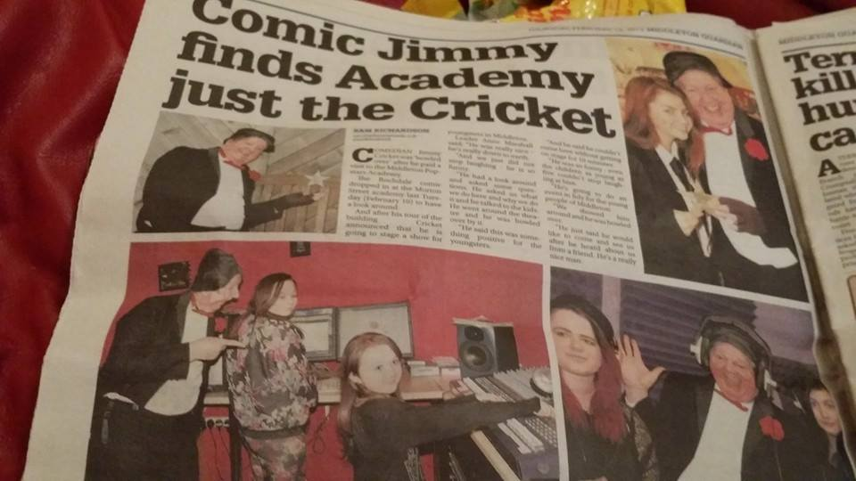 Jimmy Cricket appeared at Middleton Popstars Academy