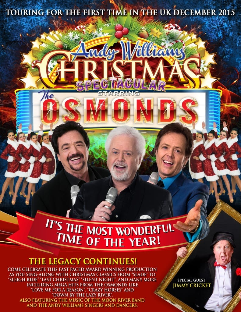 Jimmy Cricket will be teaming up with the world-famous Osmonds for a special Christmas tour later this year