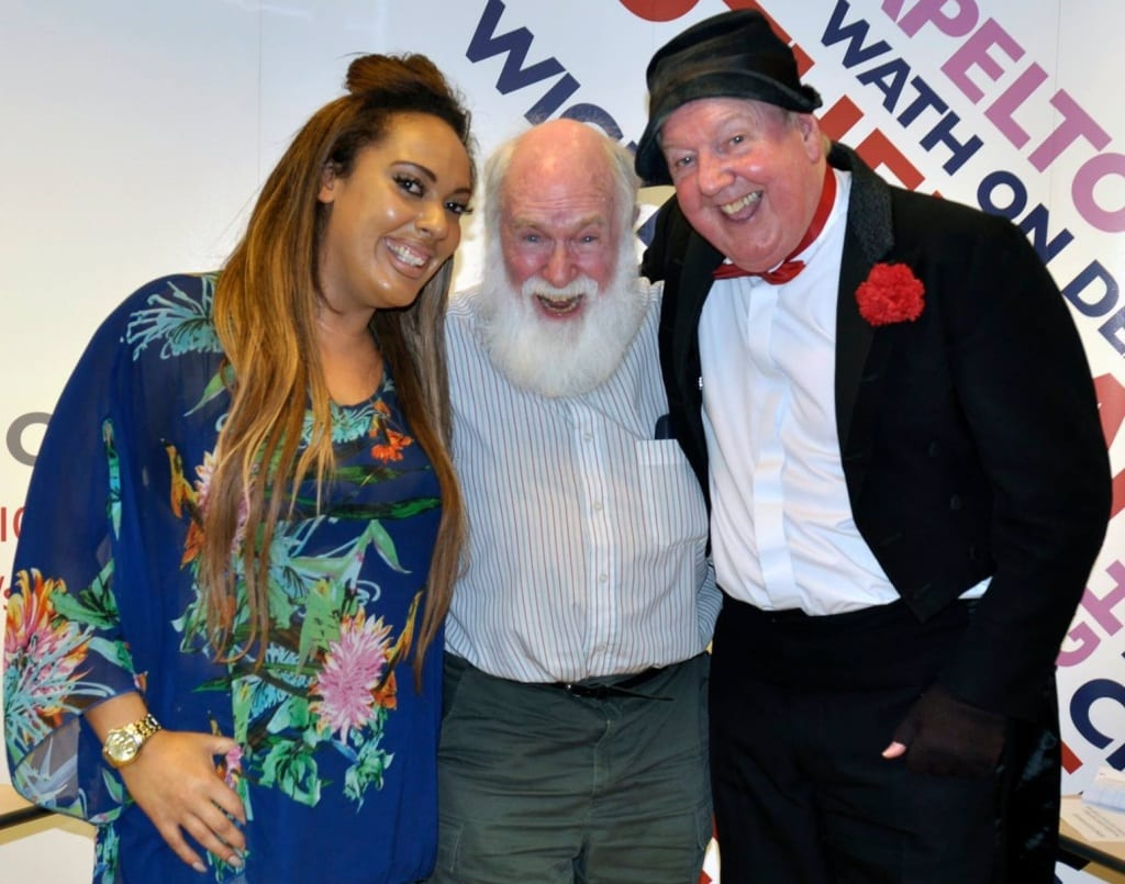 Jimmy Cricket with Peter Lewis and Kellyanne Sharman