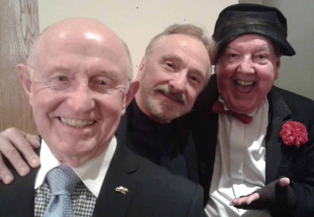 Jimmy Cricket with Buzz Hawkins from the Bradshaws, and impressionist Johnny More