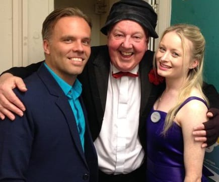 Jimmy Cricket with Carl and Danielle from the ents team at Hayling Island
