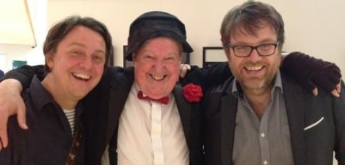Jimmy Cricket with fellow comics Colin Howarth and Dan Mitchell