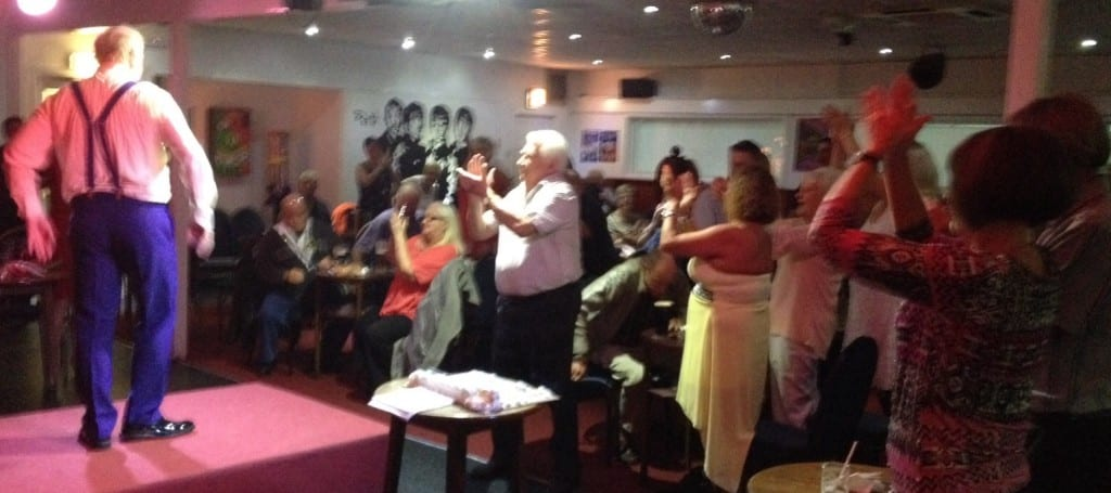 Jimmy Cricket appeared at the Mill Brow Social Club in Widnes, Cheshire
