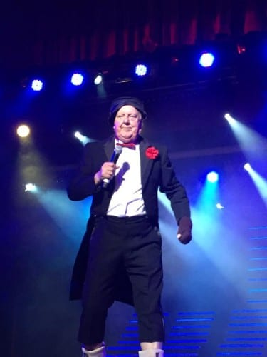 Jimmy Cricket performing at the Benidorm Palace in Spain