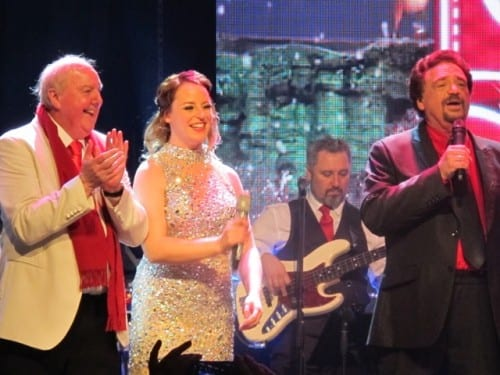 Jimmy Cricket at the Osmonds show