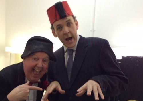 Jimmy Cricket and Phil Hoyles