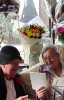 Jimmy Cricket with centenarian Lily